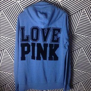 Victoria's Secret PINK Zip Up Hoodie Sweatshirt